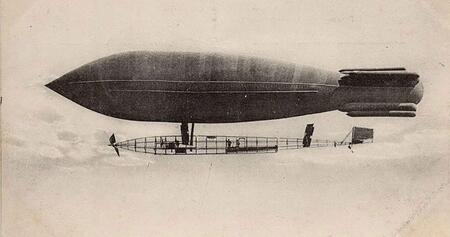 Le ballon dirigeable, pionnier de l'aviation civile