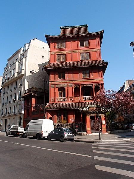 La pagode de Ching Tsai Loo - rue de Courcelles