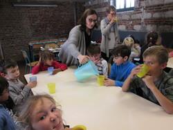 Atelier beurre au musée du terroir de Villeneuve d'Ascq