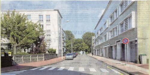 La rue Edison face aux Six Bourgeois de Calais