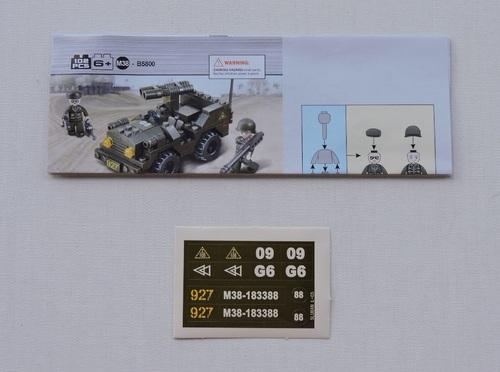 SLUBAN - Jeep porte canons (102 pièces)