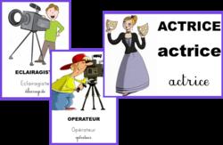Le cinéma,cartes de nomenclature Montessori