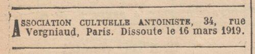 Paris - Journal officiel de la République française. Lois et décrets 16 mars 1919