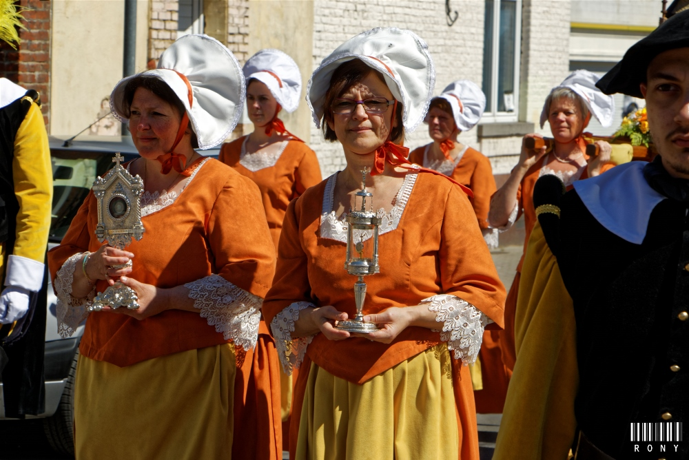 Procession Sainte Waudru de Frameries Edion 2016