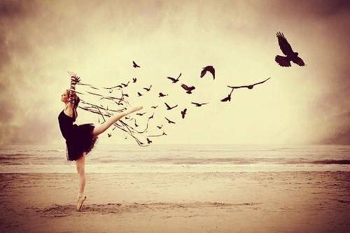 danseuse et oiseaux