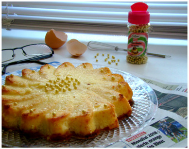 CLAFOUTIS ENSOLEILLÉ,(Weight Watchers)