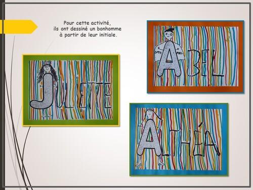 Lignes verticales et dessin du bonhomme