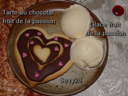 Tarte au chocolat et fruits de la passion (thermomix)