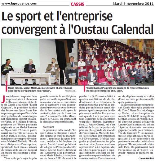 Cassis : Le sport et l'entreprise convergent à l'Oustau Calendal