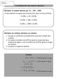 Leçons Calcul CM2