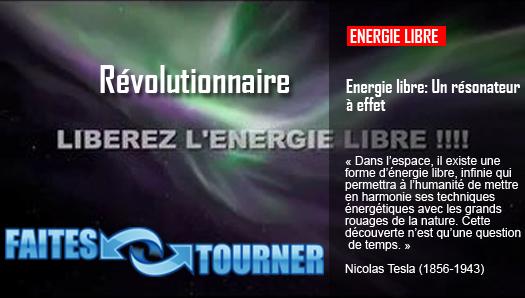 Energie libre: Un résonateur à effet