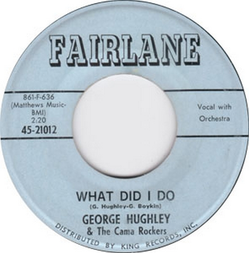George Hughley & The Cama Rockers : What Did I Do