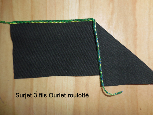 Surjeteuse Surjet (Overlock) 3 fils ourlet roulotté