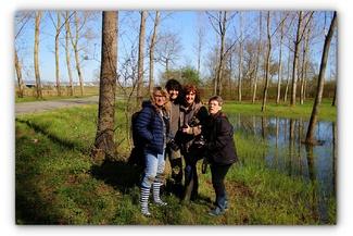 De gauche à droite : Sophie, moi, Martine et Ghislaine (06/04/2018)