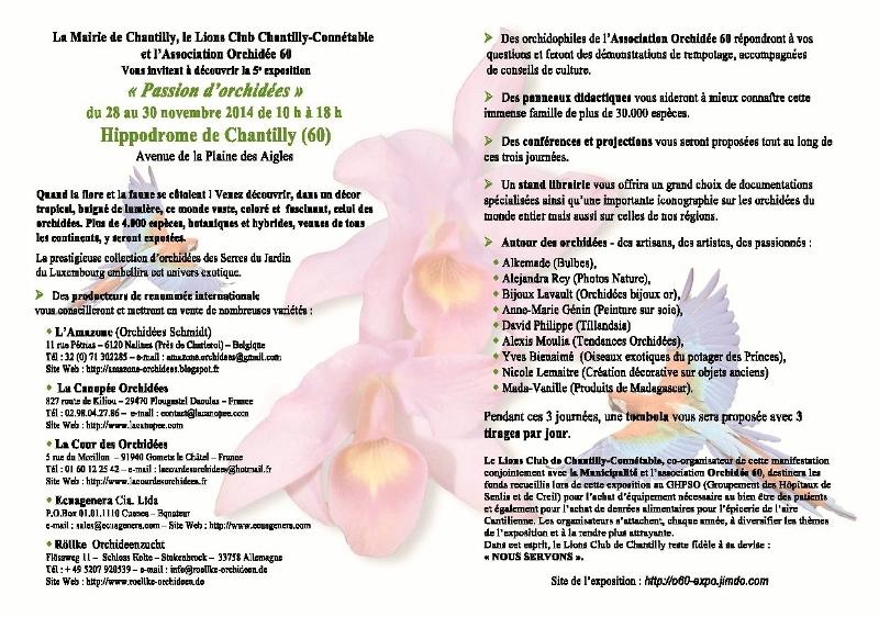 Passion d'orchidées à Chantilly...