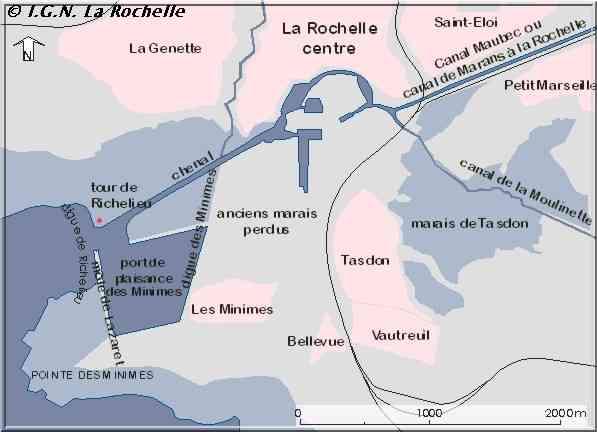 La Rochelle le siège plan d'ensemble du port
