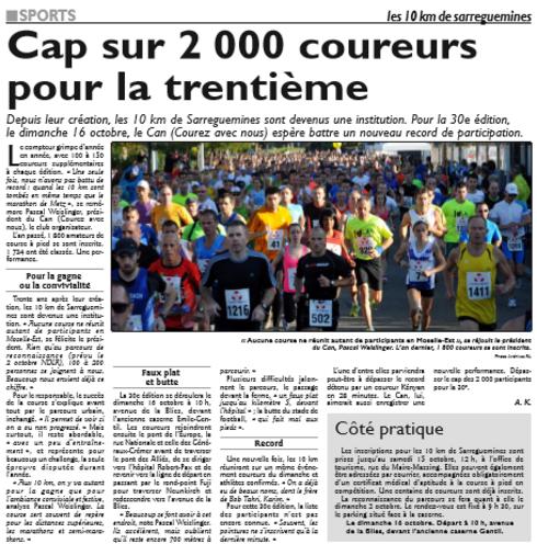 10 km de Sarreguemines, octobre 2016