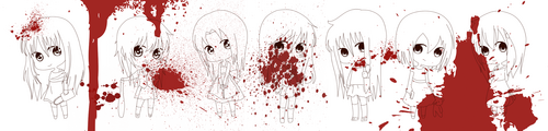 Akane, Chiaki, Michiko, Louana, Arina, Ireimon & Katara (no colo')