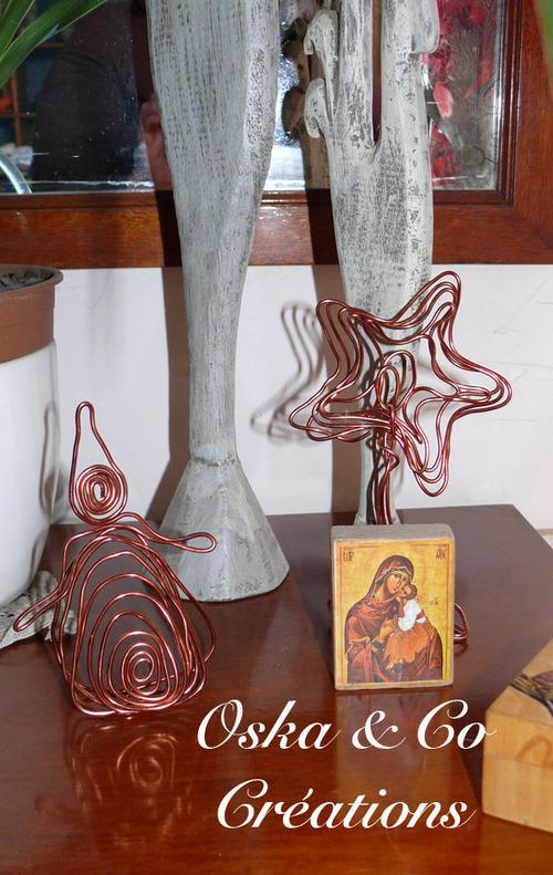 DIY décorations de Noël en fil de cuivre
