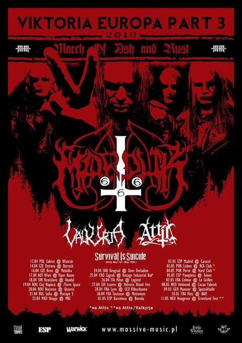 MARDUK + VALKIRJA + ATTIC + SURVIVAL IS SUICIDE - Metz - 10/05/2019