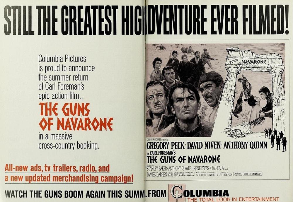 THE GUNS OF NAVARONE REISSUE BOX OFFICE USA 1966
