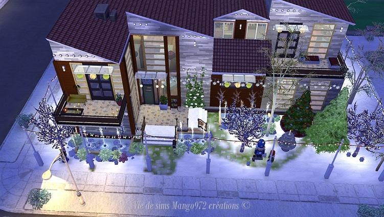 Les Sims 4 la villa Fleurit-Noël