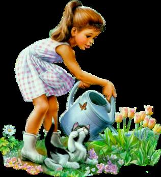 Résultat d'images pour Gifs enfants et fleurs