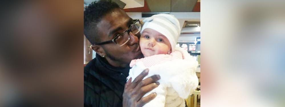 Une photo non datée de la petite Djenah, enlevée par son père (à gauche) à Grenoble le 18 octobre 2016.