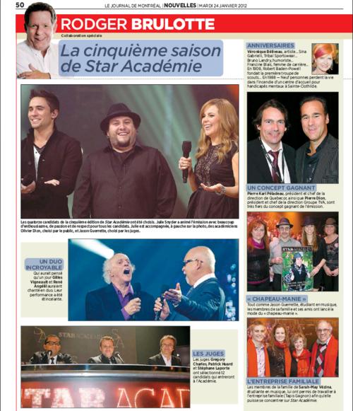 Journal de Montréal - 24 janvier