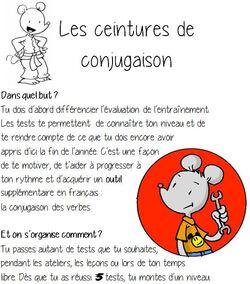 Conjugaison 6H tests pour les ceintures