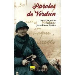 Paroles de verdun : lettres de poilus - Jean-Pierre Guéno