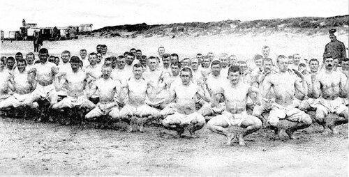 L'équipe sportive du 8e régiment d'infanterie