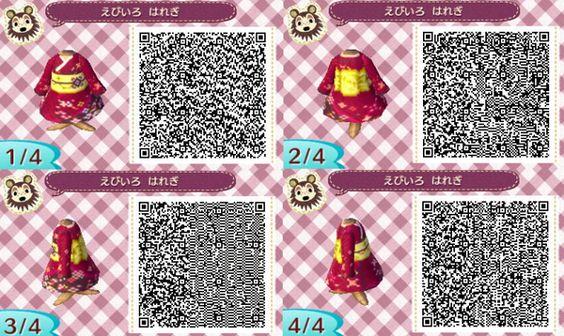 robe japonaise + qr code acnl: