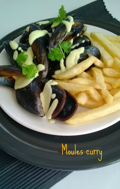Moules curry