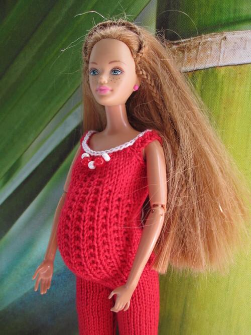 Combipantalon de maternité pour barbie enceinte