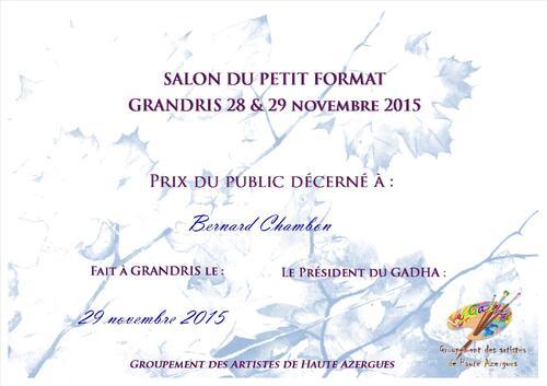 Le Prix du public à Bernard Chambon !