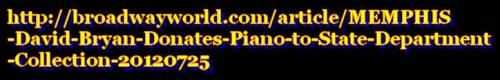 Dave donne un piano à une sorte de conservatoire national de la musique
