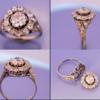 Bague diamant platine 1925