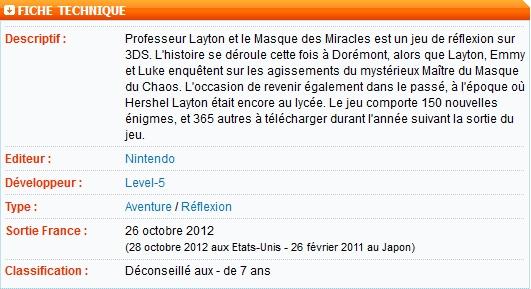 Professeur Layton (5 et 6) - N3DS