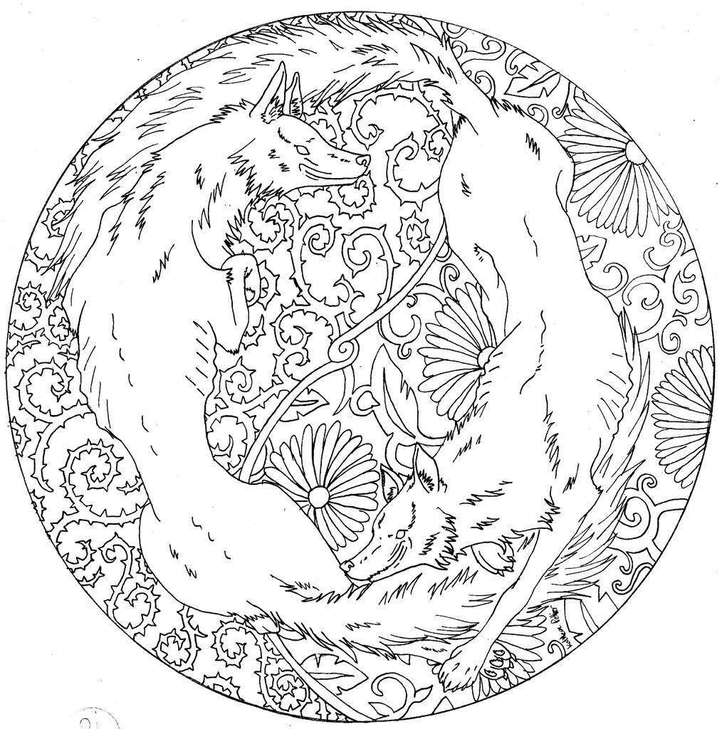Mandala fanbook - Mandala de chevaux ...