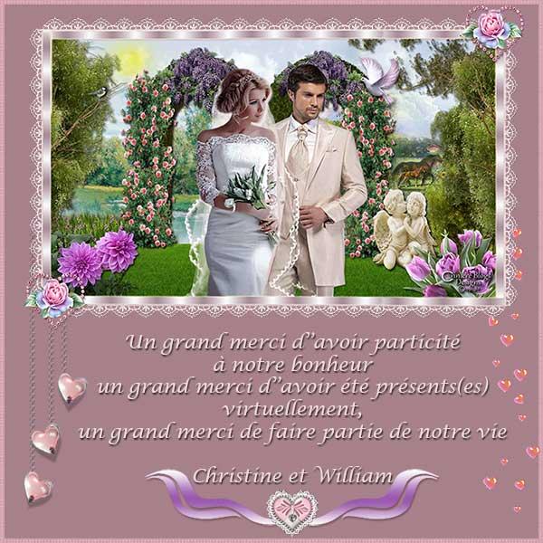 Mes cadeaux de mariage, merci infiniment !!!