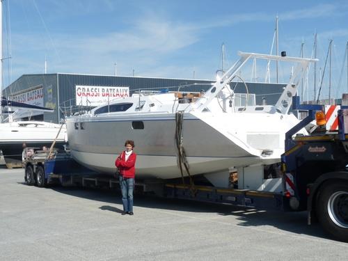 Arrivée aux chantiers  GRASSI à La Rochelle