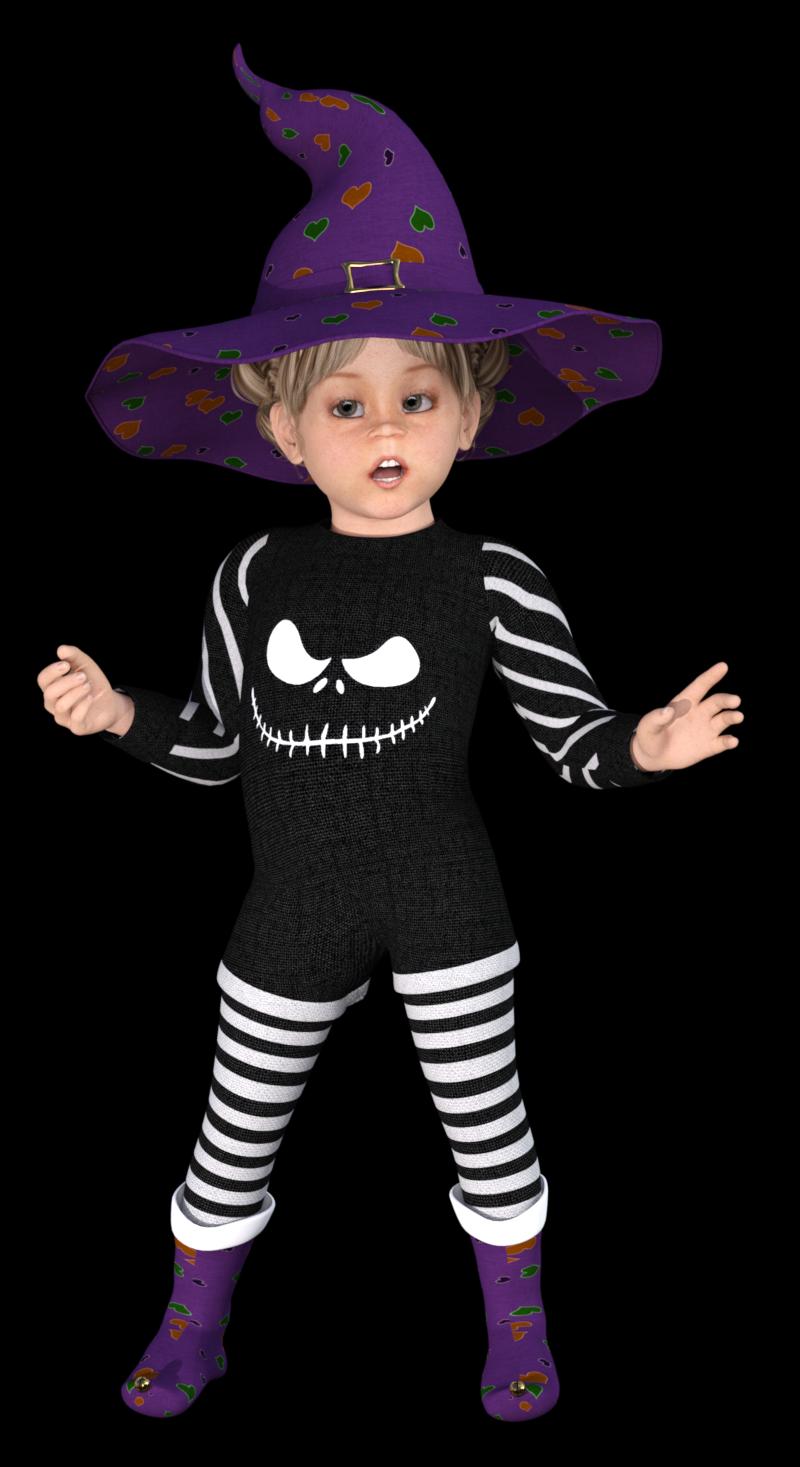 Tube petite sorcière d'Halloween (render)