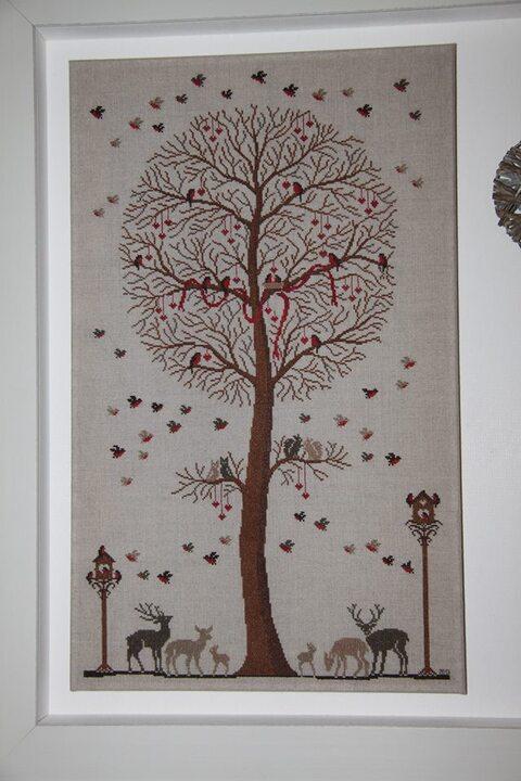 Broderie / arbre aux oiseaux