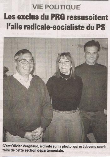 05 6 mai Les exclus du PRG ressuscitent l'aile radicale socialiste du PS