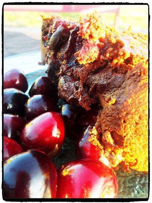 Cake chocolat-cerises
