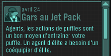 Message du gars au jet-pack
