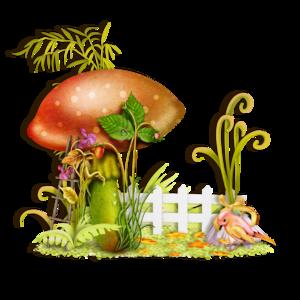 Tubes champignons en png