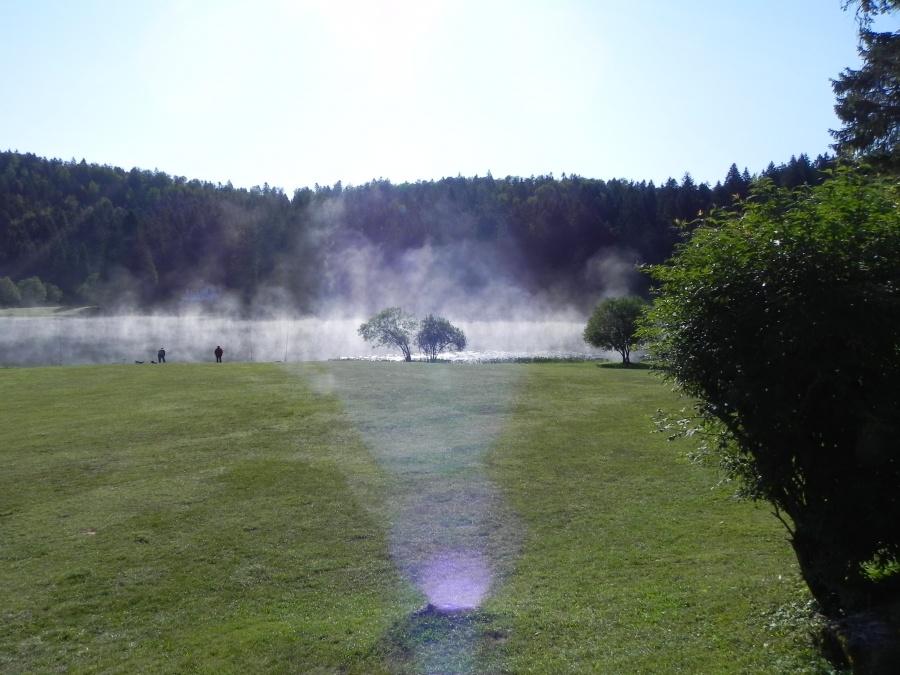 Le lac Genin dans l'Ain