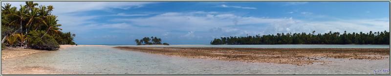A marée basse - Motu au sable rose - Sud de Fakarava (Tetamanu) - Tuamotu - Polynésie française